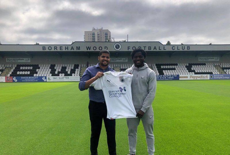 Kabongo Tshimanaga joins Borehamwood on a two-year deal