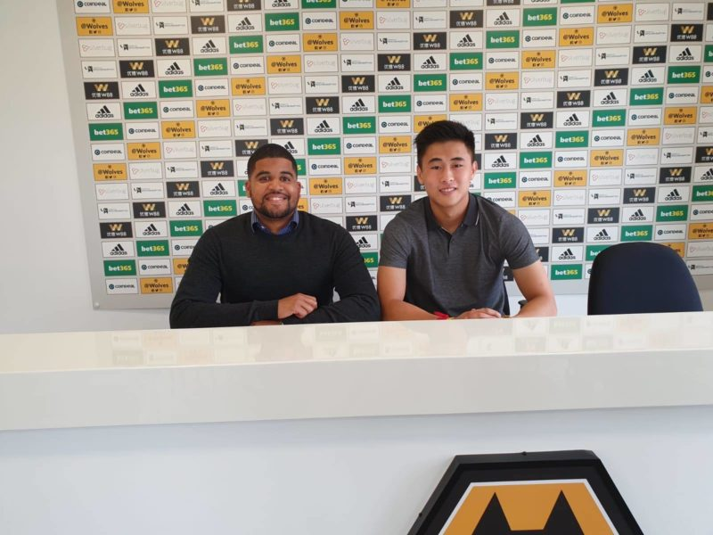 Tsun Dai joins Wolverhampton Wanderers on a two-year Deal