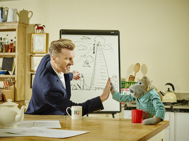 Robbie Savage joins PG Tips for Red Nose Day