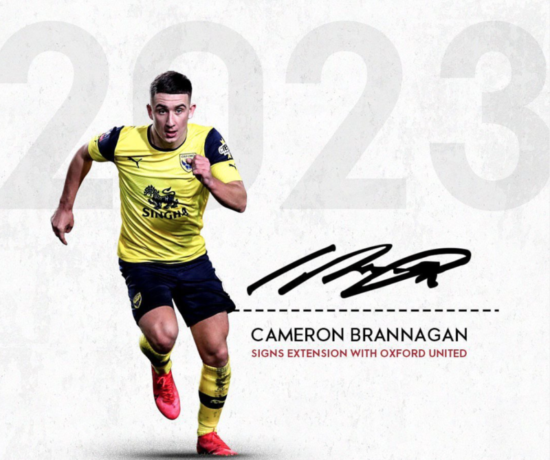 Cameron Brannagan signs new contract at Oxford United