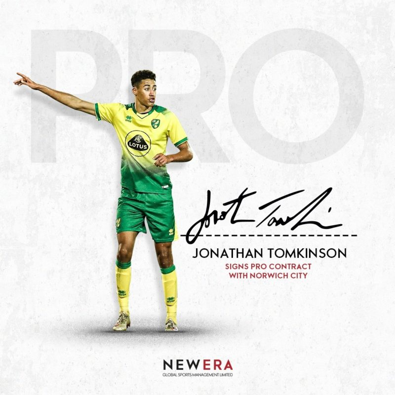 Jonathan Tomkinson signs Pro Deal with Norwich City