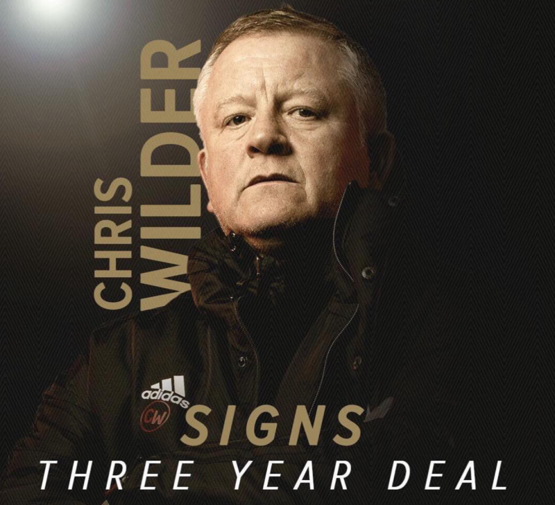 Chris Wilder and Backroom Staff Sign New Contracts with Sheffield United