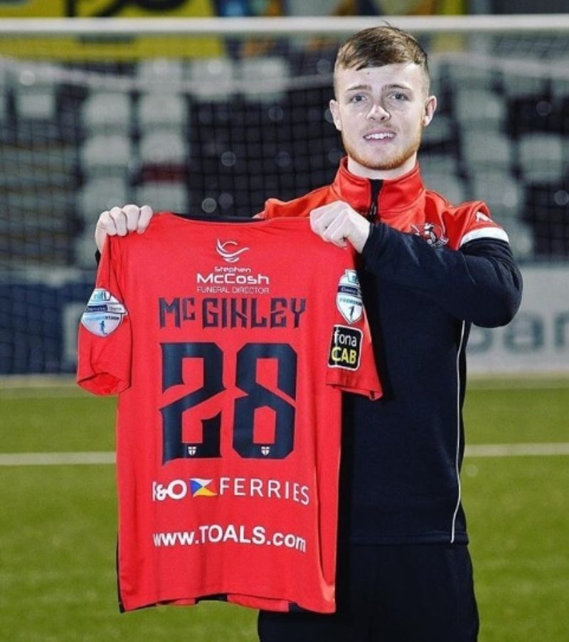 Reece McGinley joins Crusaders on loan from Rotherham United